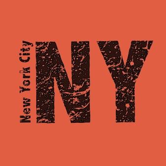 Texto grunge new york