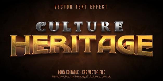 Texto de herencia cultural, efecto de texto editable de estilo de juego