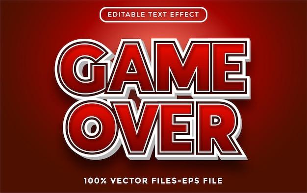 Texto del juego. vectores premium de efecto de texto editable