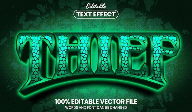Texto de ladrón, efecto de texto editable