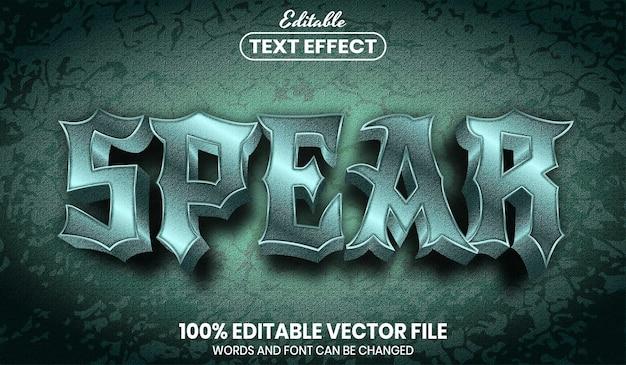 Texto de lanza, efecto de texto editable