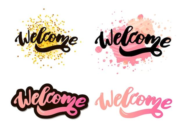 Texto de letras de bienvenida