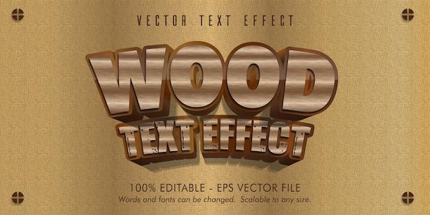 Texto de madera, efecto de texto editable estilo madera