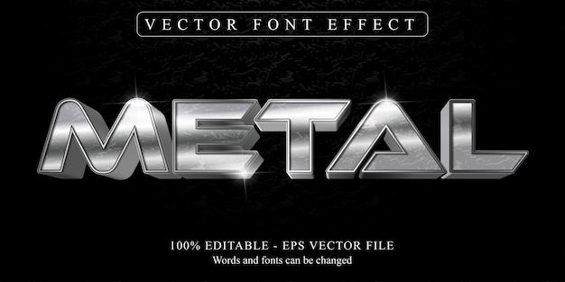 Texto de metal, efecto de texto editable de estilo metálico brillante