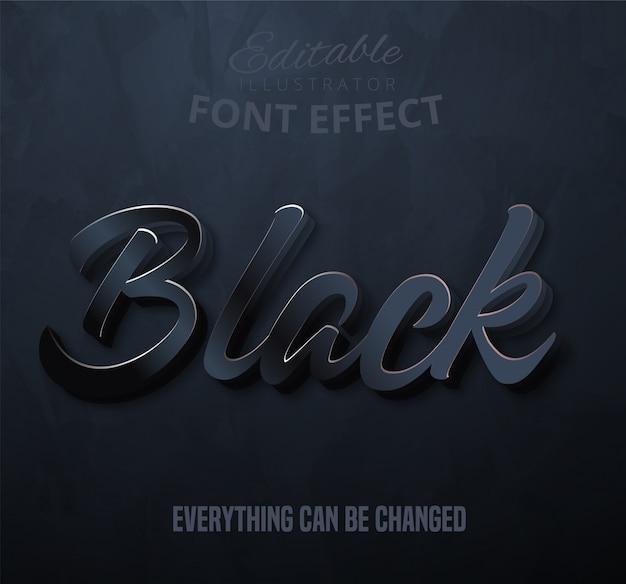 Texto negro, efecto fuente