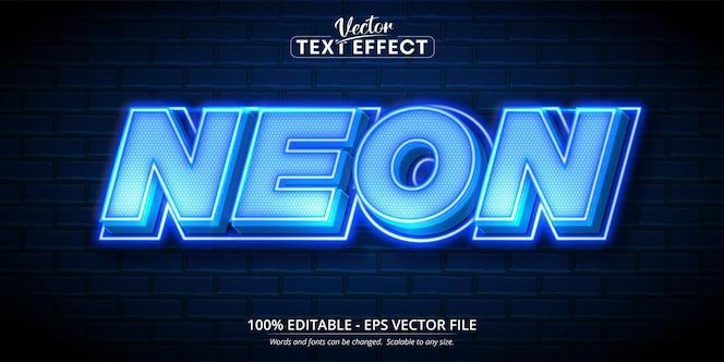 Texto de neón, efecto de texto editable estilo neón