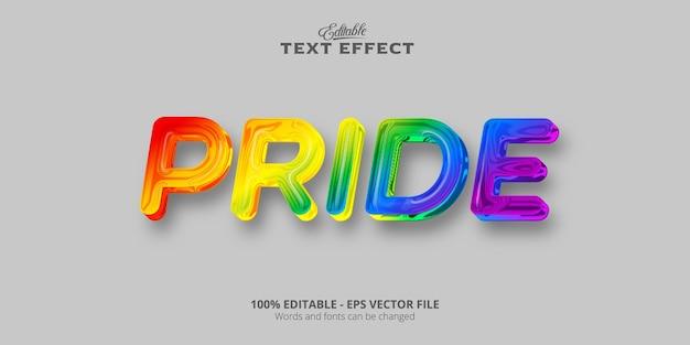 Texto de orgullo, efecto de texto de estilo colorido editable
