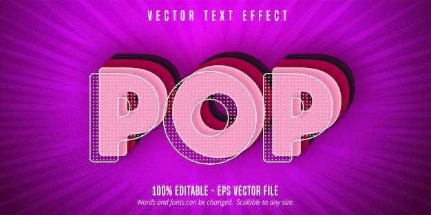 Texto pop, efecto de texto editable estilo pop art