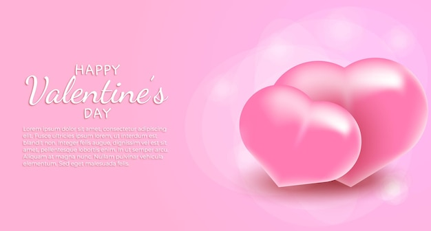 Texto de saludo de feliz día de san valentín con corazones