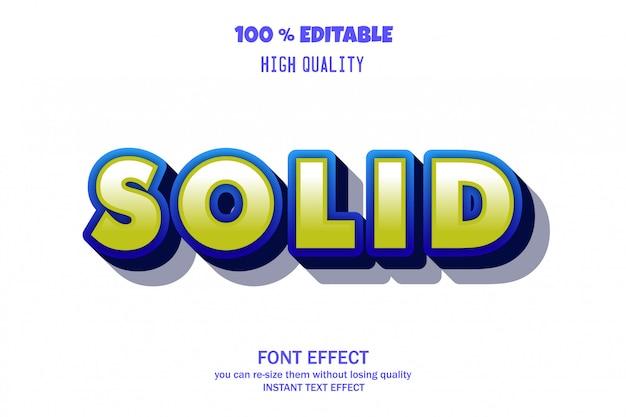 Texto sólido, efecto de fuente editable
