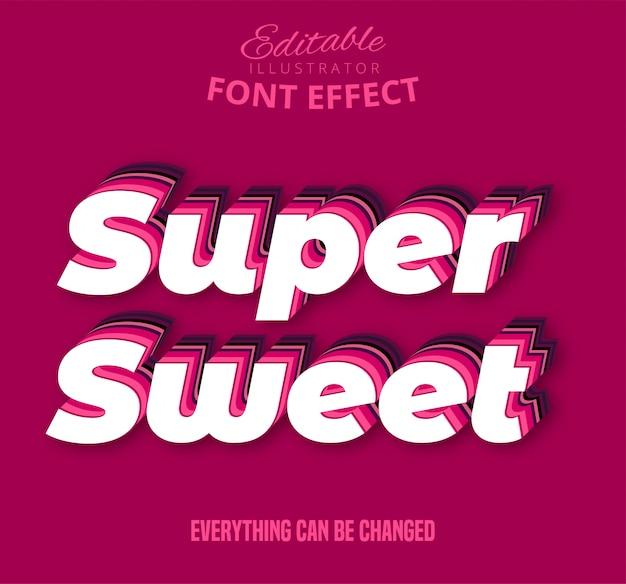 Texto súper dulce, efecto de texto editable