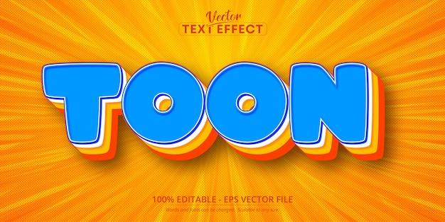 Texto de toon, efecto de texto editable de estilo cómic pop art
