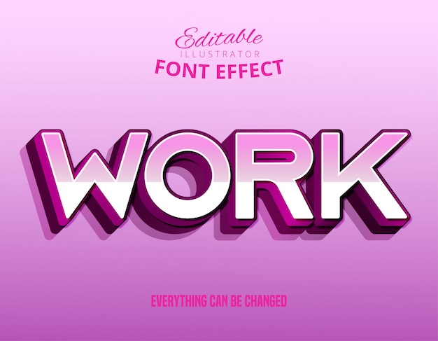 Texto de trabajo, efecto de texto editable