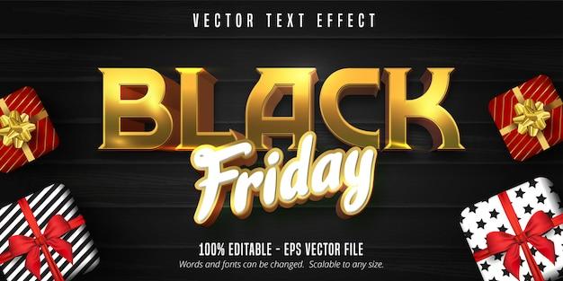 Texto de viernes negro, efecto de texto editable