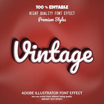 Texto vintage, efecto de fuente