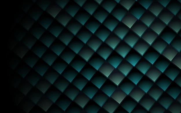 La textura 3d cubica el fondo verde abstracto de los cuadrados