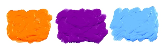Textura de acuarela acrílica gruesa azul púrpura y naranja