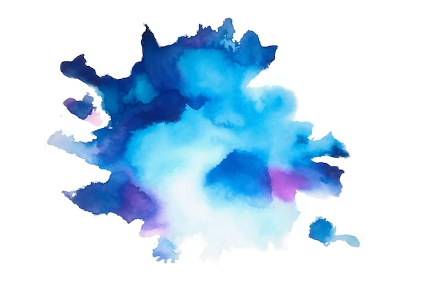 Textura de acuarela azul natural pintada a mano