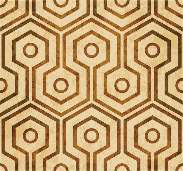 Textura de acuarela marrón, patrón transparente, marco redondo hexagonal cruzado