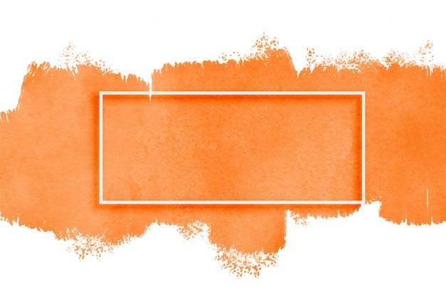 Textura de acuarela naranja con copyspace