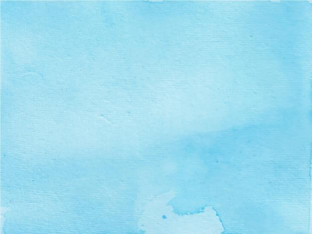 Textura de acuarela pintada a mano azul brillante