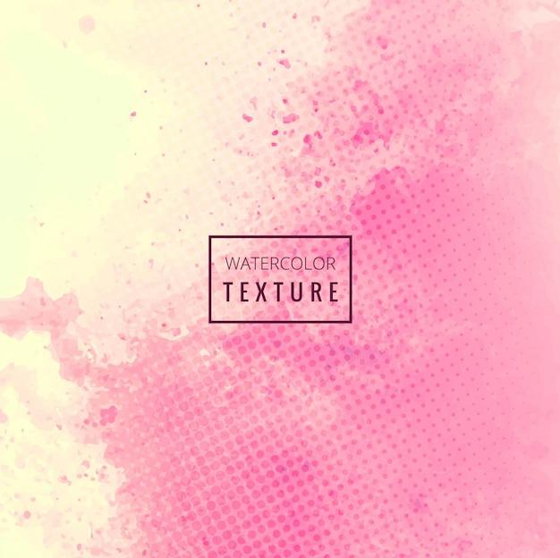 Textura de acuarela rosa grunge con puntos