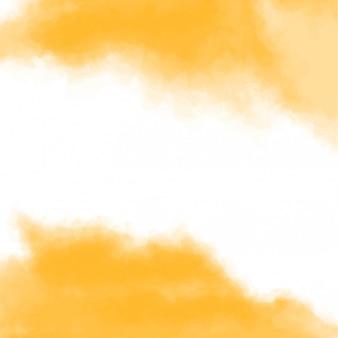 Textura amarilla, fondo abstracto acuarela pintada a mano con espacio en el medio. ilustración.