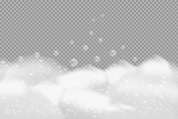 Textura de burbujas de champú ilustración de espuma de baño y champú espumoso.