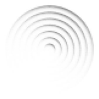 Textura de círculo de puntos de semitono. adorno geométrico creativo para el diseño. fondo de vector abstracto