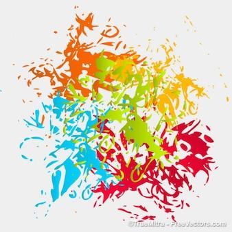 Textura colorida sucia