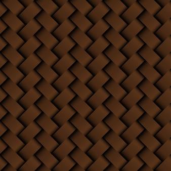 Textura de cuero marrón tejido de patrones sin fisuras