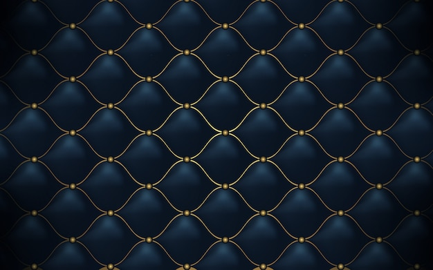 Textura de cuero. patrón poligonal abstracto lujo azul marino con oro.