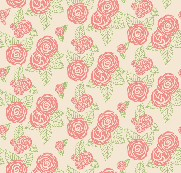 Textura de estampado floral