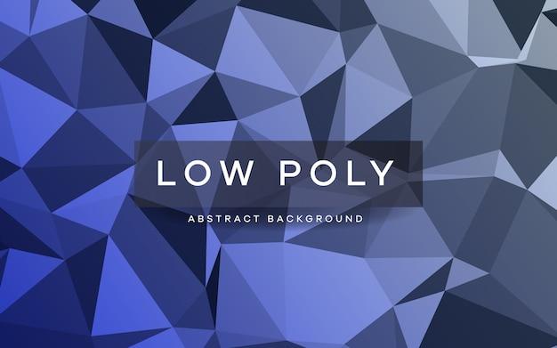 Textura de fondo abstracto azul poli baja