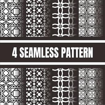 Textura geométrica simple establecer colección de patrones minimalistas geométricos sin costura.
