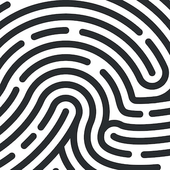 Textura de huellas dactilares. huella digital de identificación personal. ilustración vectorial