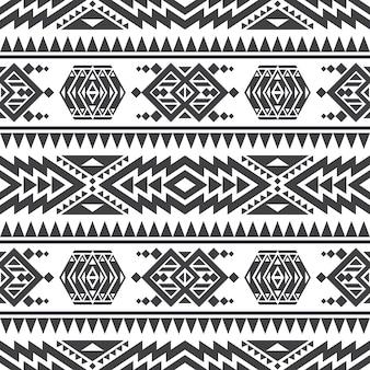 Textura inconsútil del vector azteca americano. indio nativo tribal patrón repetitivo