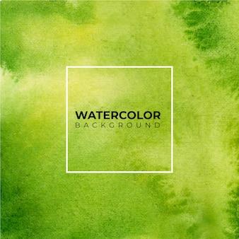 Textura de lavado de acuarela. fondo abstracto verde