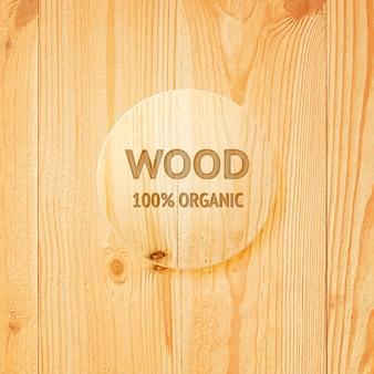 Textura de madera con lente de vidrio