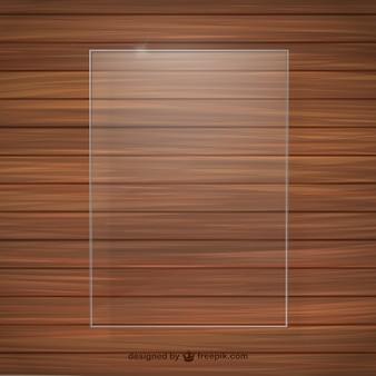 Textura de madera con marco de cristal