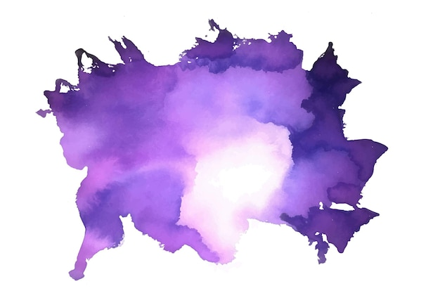 Textura de mancha de acuarela abstracta en color morado