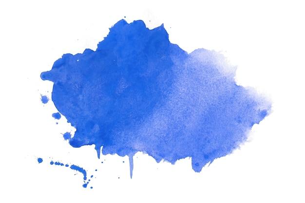Textura de mancha de acuarela en diseño de color azul