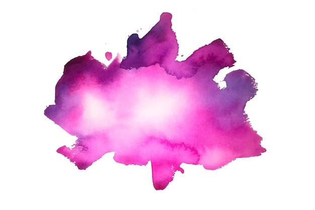 Textura de mancha de acuarela rosa pintada a mano
