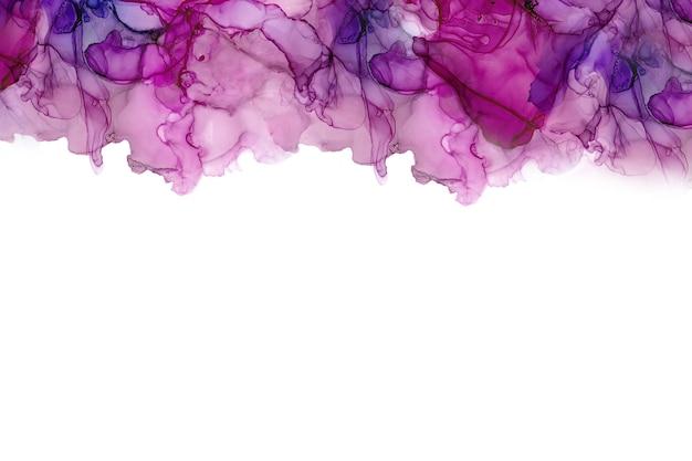 Textura de mar de tinta de alcohol. fondo abstracto de tinta fluida. fondo de pintura abstracta colorida