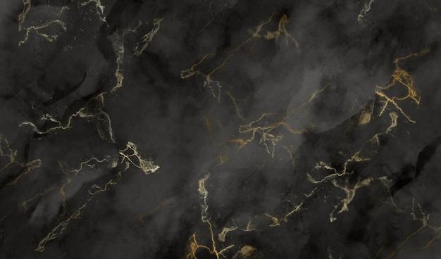 Textura de mármol negro y dorado