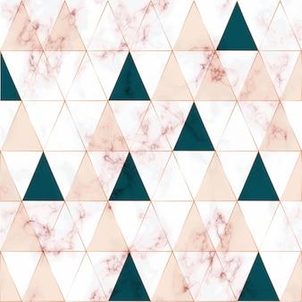 Textura de mármol, patrón geométrico con líneas geométricas doradas.