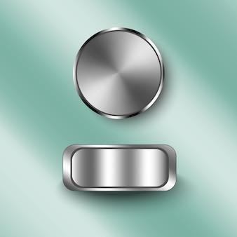Textura metral en el botón