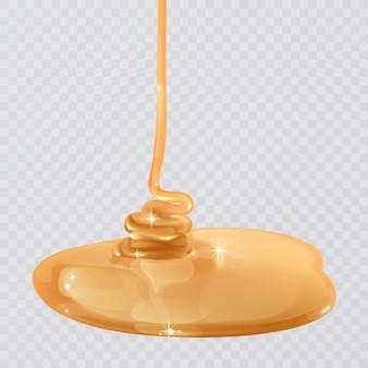 Textura de miel que fluye realista