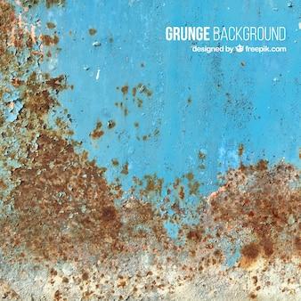 Textura de pared azul oxidada
