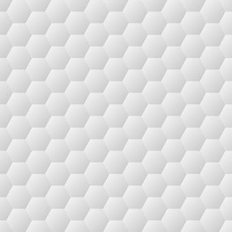 Textura de pared blanca hexágonos sin costura